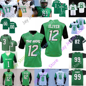 Marshall Thundering Herd Football Jersey NCAA Broc Thompson Darius Hodge Marquis Couch Vinny Curry Oliver Dobson Leftwich Pennington
