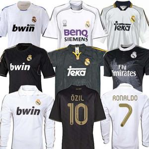 Retro 06 07 10 11 12 Echte Madrid Fußball Fußball Jersey Guti Ramos McManaman 13 14 15 Zidane Beckham 06 07 Raul Robinho 99 00 Carlos