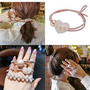 Жемчужный эластичный заголовок браслет двойной цель Прекрасная милая простота резиновые струны намотки женские головные уборы ювелирные изделия Accessorie мода 3 8LZ M2