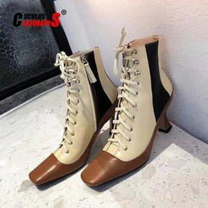 CUCULUS 2020 Осень и зима Новый тип Женский кожаный ремень Утка с выплатами, на высоких каблуках Курительные ботинки 2013