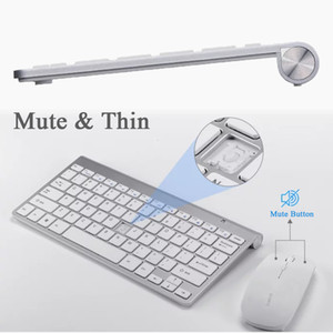 2.4G Keyboard Mouse Combo Set Multimedia Wireless Keyboard and Mouse For Notebook Laptop Mac Desktop PC TV Office Supplies