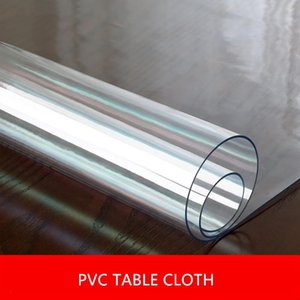 1.5mm 2mm 3mm Thick Pvc Table Covers Transparent Tablecloth Rectangle Protector Desk Pad Soft Glass Dining Top Table Cloth Dec