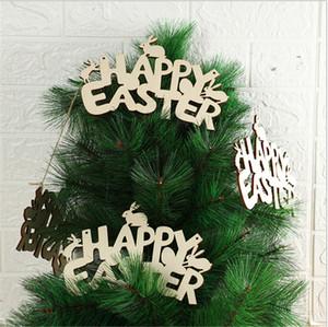 Feliz Páscoa Coelho Pingentes De Madeira Letras Ornamento Artesanato DIY DIY Pendurar Pingentes Bunny Easter Decoração Home Party Fontes E122504