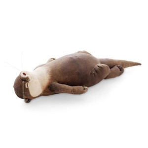 Japanese Creative Raised Otter Simulation Animal Plush Toy Pencil Bag Case Storage Bag Cool Wristband Gift 201222