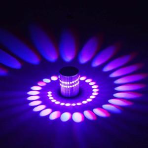 XSKY LED настенный светильник 3W RGB праздничная лампа 220 В 110 В Современный Wandlamp Светильника Светящееся Освещение Sconce Подходит для дома KTV Караоке