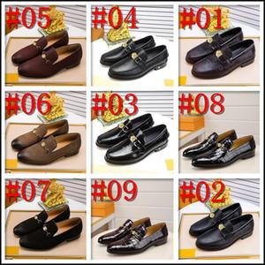 C3 Men Oxford Sapatos Patina Tingimento Luxo Couro Couro Vermelho Bottom Men Sapatos Itália Designer Luxo Homens Dress Shoes Partido de Casamento 11