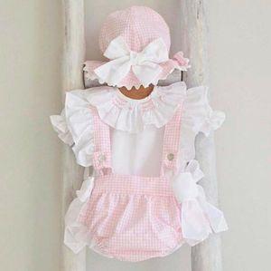 Newborn Baby Girl Princess Sleeve T-shirt + Bow Ruffle Sling Pants Outfits Princess Sleeve Top+Bow Ruffle Stripe Sling Pants