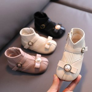 New 2020 Winter pearl baby girl shoes baby boots princess toddler boots girls boots baby shoes toddler shoes socks infant shoe B2782