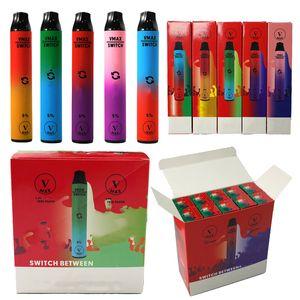 100% authentischer Vmax-Schalter 2 in 2 Einweg-Vape-Stangen-Starter-Kit 5,8ml 900mAh-Batterie-leer E-Zigaretten V max Gerät-Pod