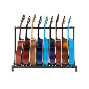 Gitar Bant Depolama Bass Elektrik Akustik Rack 7 Tutucu Katlama Standı