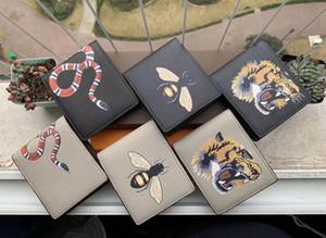 Animal Imprimer Style Designer Mens Portefeuille célèbre Men Portefeuille Spéciale Toile Multiple Petite Petite Portefeuille avec Box Dust Sac