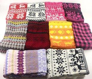Hiver chaleur chaude tricot frefaves de Noël flocon de neige imprimé glands écharpe enfants enfants jacquard weave cordonfief wraps wraps cloak sac