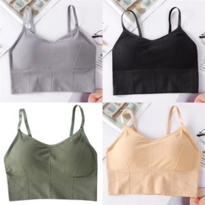 cjLFr Women Sport Fitness Undershirt Top Summer Solid Color Athletic Tank Yoga vest fur No Steel Ring Beautiful Back lady Sleeveless Shirt