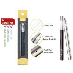 Disposable Vape Pens 5S C1 C2 0.3ml 0.5ml Ceramic Coil Vapes Cartridges Starter Kits 320mah Ecig Battery Vaporizer Pens Electronic Cigarette