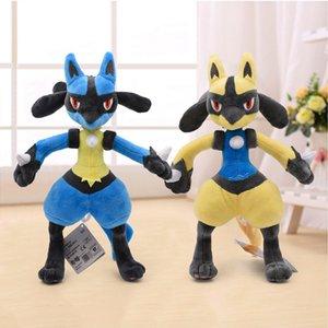 32 cm 2colore lucario peluche giocattoli bambola in cotone carino mega lucario xy morbido farcito animale peluche giocattolo regalo per bambini Y200723