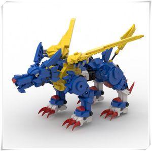 Metal Garurumon Building Blocks Toys For Children Digimones Action Figure Model Kids Toy Original Design Assembling Bricks Toy Z1201
