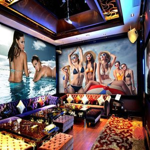 Custom photo wallpaper 3D Themed mural wallpaper sexy beauty hotel nightclub KTV box sofa backdrop 3d