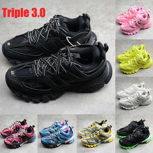 Nuevo Mejor París Triple 3.0 hombres zapatillas de deporte negro Blanco Burdeos Rosa resplandor en las zapatillas de running para hombre de moda oscura US 6-12