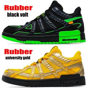 Top quality white x rubber sneakers trainers black volt university gold reverse skunk silver blue dog walker men women basketball shoes