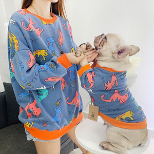 Pet Matching Clothes for Dog Parent-Child Clothes Cotton Pet Dog Clothes French Bulldog Clothing for Dogs Hoodie Pets Apparel 201030