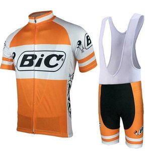 BIC team Cycling Short Sleeves jersey bib shorts sets Summer mens bike racing clothing ropa ciclismo hombre MTB sport clothes Y20111601
