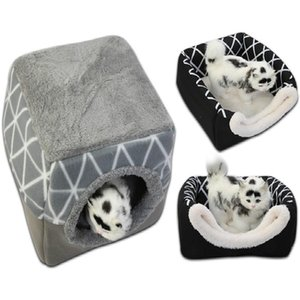 Pet bed for Cats Dogs Soft Nest Kennel Bed Cave House Sleeping Bag Mat Pad Tent Pets Winter Warm Cozy Beds cat tent sofa