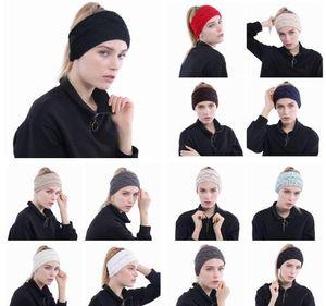 Женщины вязаные повязки повязки женщин зима теплый оголовье спортивные вязаные тюрбаны головные повязки вязание крючком повязки волосы Accessorie Designs GWB3300