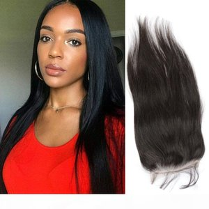 Malaysian Unprocessed Human Hair 6X6 Lace Size Body Wave Straight Natural Color Six By Six Lace Closure Hair Extensions