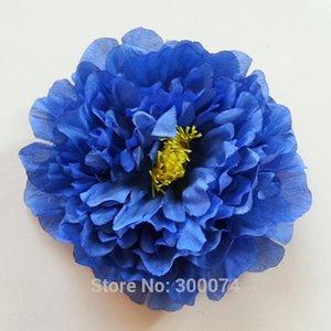 Handmade 17см искусственный королевский синий пион цветы головы ремесла поставляет декоративные цветы для свадьбы decoracao do casamento flor