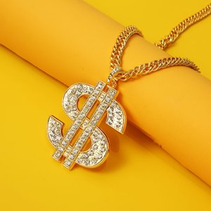 2020 Hot Selling Hip-Hop Personality Trendy Brand Necklace Dollar Sign Pendant Necklace Nightclub Party Accessories Wholesale