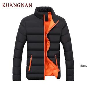JH Kuangnan Solid Men Winter Jacket Black Stand Collar Coat Men Winter Jacket Man Parka Parka Clothes 2018 New