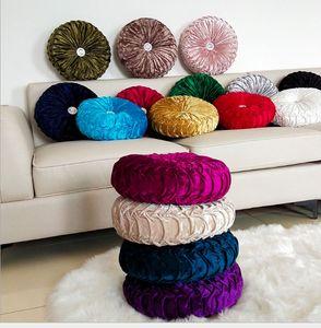 Velvet Pieghettato Turno Through Throw Pillow per il divano pavimento, cuscino cuscino decorativo per la casa divano letto letto auto F1214