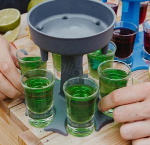 6 Titulaire de distributeur de diviseur Distributeur de vin Diviseur de vin Distributeur de boisson Distributeur de boissons de vin Distributeur de vin Distributeur Distributeur Dining Bar Boissons Puire Livraison Mer Cyf4578
