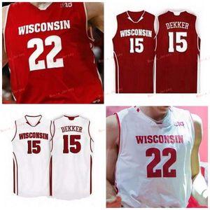 Stitched Custom 0 D'Mitrik Trice 1 Brevin Pritzl 2 Aleem Ford 3 Walt McGrory Wisconsin Badgers College Men Women Youth Jersey