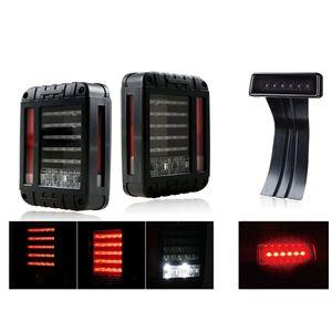 Для JKUEP WRANGLER JK JKU 2007 -2017 12V светодиодный красный хвостовой свет задний поворот сигнал резервного копирования лампы с копченым 3-м светом светодиодного тормоза