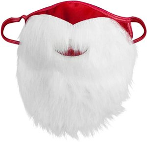 Holiday Santa Beard Face Mask Costume for Adults for Christmas (One Size fits All) Red NEW DHE3149