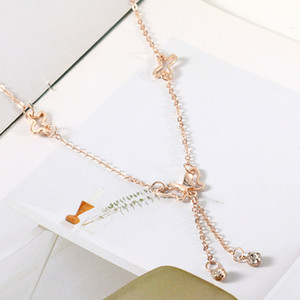 Temperament butterfly single drill tassel anklet female Korean fashion accessories wholesale free shipping