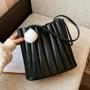 Composite Bags Special New Design Small PU Leather Shoulder Bags for Women 2021 Luxury Trend Handbags with Hairball