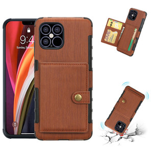 Wallet Case with Card Holder PU Leather Kickstand Card Slots button closure Shockproof Cover For iPhone 12 6.1 12 Pro Max,iPhone 12 mini 5.4