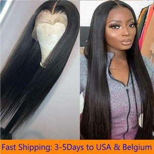 Lace Front Wigs Long Straight Synthetic Wig for Women Natural Density Black Straight Wig Heat Resistant Fiber Hair Wig Fast Ship