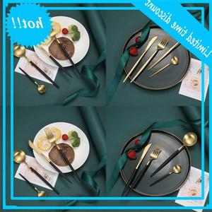Mutfak Bıçağı Çatal Kaşık Sofra Seti Portekiz Mat Paslanmaz Çelik Suit Çatal Accesorios Yemeği Servis Plakaları Kiti Dört Parçası 21 6WX B2