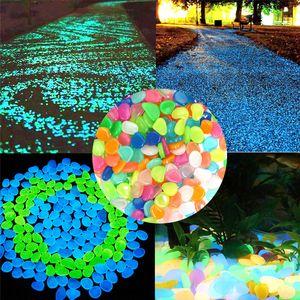 Resplandor en las piedras oscuras Jardín Oudoor Pasillos brillantes Piedras fluorescentes Luminosas brillantes Piedras luminosas para la decoración del jardín