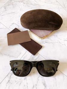 237 Black Gray Sunglasses 0237 Sun Glasses 007 Men Fashion Sunglasses occhiali da sole with box