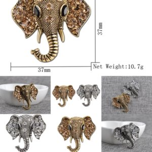 3MWLN Brooch Diamond of Lucky Elephant Creativity Elephant Broches Decoraciones Niños Pines Women's Esmalte Joyería Roja Elefante Broche