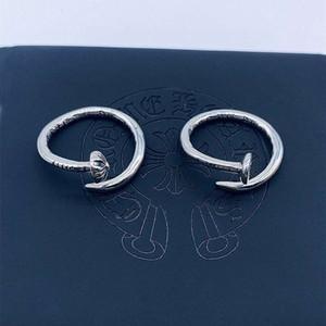 Crocho Brand Round Nail Plock Cross Rivet Кольцо мужские и женские 925 стерлингового серебра 925