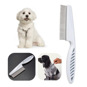 2020Protect Flea Comb For Cats Dogs Pet Stainless Steel Comfort Flea Hair Grooming Tools Deworming Brush Short Long Hair Fur Remove with dhl
