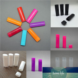 Wholesale 100 Pcs 4.5g   0.15oz Empty Oval Flat Tubes Lip Balm Tubes Lipstick Containers DIY Cosmetic Tube Bottle multi colour