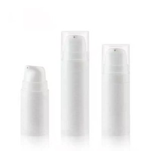 50pcs lot 5ml 10ml 15ml White Airless Pump Lotion Bottle,1oz PP Airless vacuum bottle,Airless Container,Cosmetic Packaging