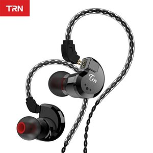TRN V80 2BA + 2DD Métal hybride chez l'oreille Écouteur HIFI DJ Monito Running Sport Sport Earphone Écouteur Casque d'oreille IM2 \ IM1 \ IE80 \ x6 VX T2 \ V90