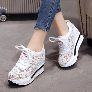 platform sneakers women shoes casual sneakers wedges platform shoes mesh breathable autumn white sneakers women zapatillas mujer 201201